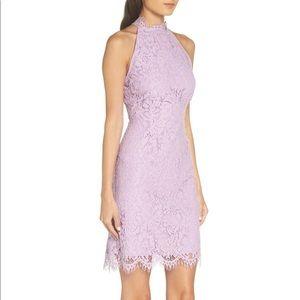 BB Dakota lilac pink lace sleeveless mini dress